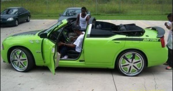lil boosie 39 s droptop lime green dodge charger srt with. Black Bedroom Furniture Sets. Home Design Ideas