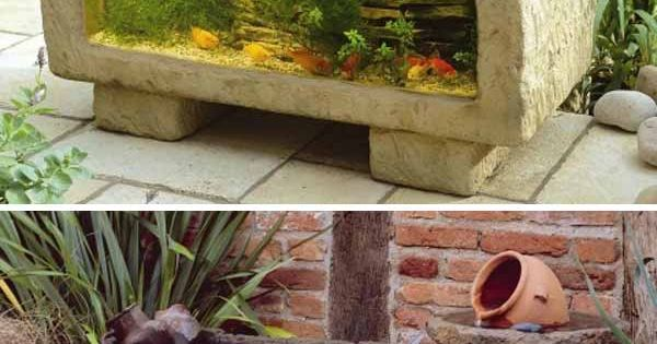 21 small garden ideas that will beautify your green world for Small outdoor fish tank