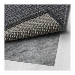 Ikea Rug flatwoven black 4  4 x6  5 in//outdoor gray indoor//outdoor