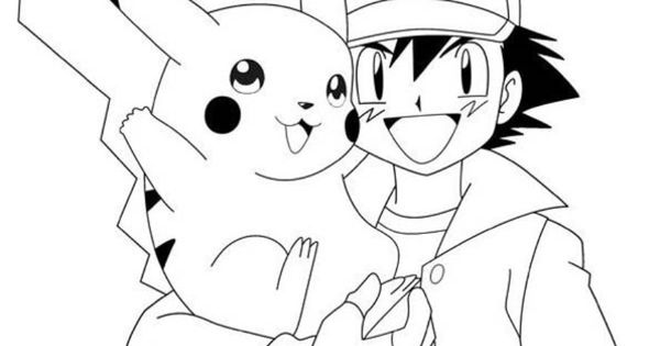 Ash and Pikachu coloring page   Ash and Pikachu ...
