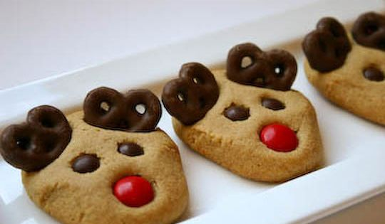 Peanut Butter Reindeer Cookies Christmas cookie recipe