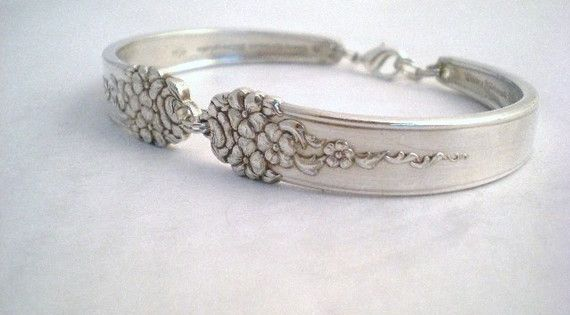 Spoon Bracelet, Bridesmaid Gift, Wedding Jewelry, Silverware Jewelry, Silver Vintage Bracelet -