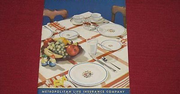1940 S Metropolitan Life Insurance Three Meals A Day Cookbook