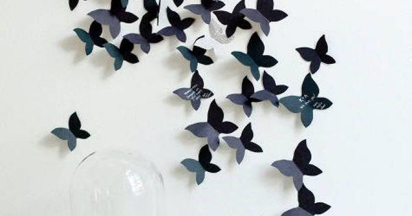 Muurdecoratie vlinders zelf maken zelf maken op de site for Zelf muurdecoratie maken