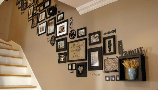 Picture Frame stairway gallery wall
