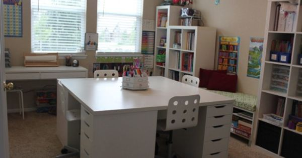 Our Ikea School Desks Confessions Of A Homeschooler Homeschool Rooms School Room School Desks