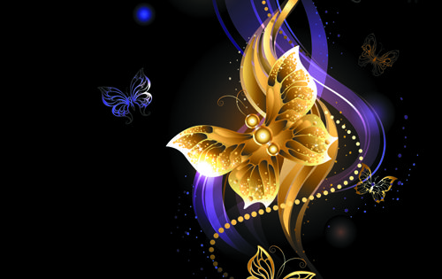 Purple and Gold Backgrounds | Purple and golden ...