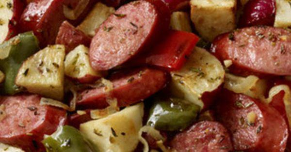 Hillshire Farm Sausage and Potato Bake | Recipe | Skillets, Kielbasa ...