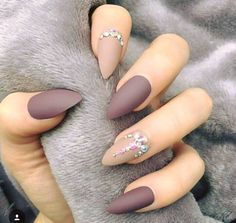 Nail Art Design Ideas Gel Polish Acrylic Matte Top Coat Simple And Easy Prom Nails Gorgeous Nails Purple Nails