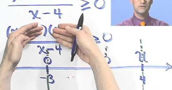 Solving Rational Inequalities Another Example Youtube Inequality Solving Math