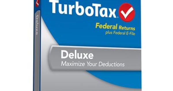 Turbotax Deluxe Fed E File 2013 1 Year This Is For Federal Return Only And Does Not Include A State Return Get Your Taxes Do Turbotax Tax Software Efile