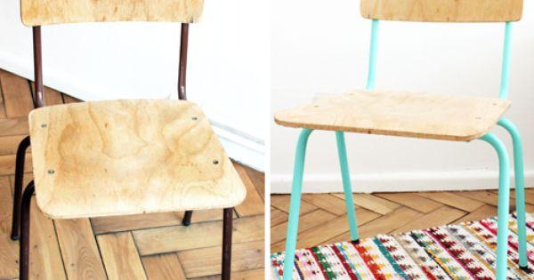 Mumu zuzu diy relooker une chaise en bois et m tal d co pinterest c - Relooker chaise bois ...