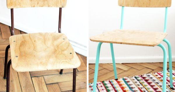 Mumu zuzu diy relooker une chaise en bois et m tal - Relooker chaise bois ...