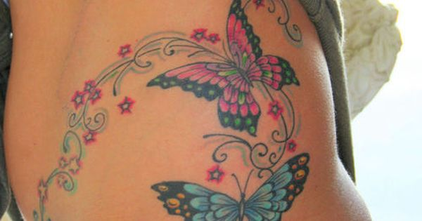 Butterfly Tattoo. Love the bright colors!!!