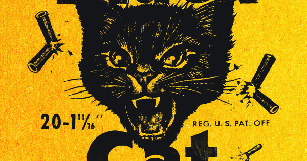 Black Cat Fireworks Label Black Cat Logos/Retro Labels