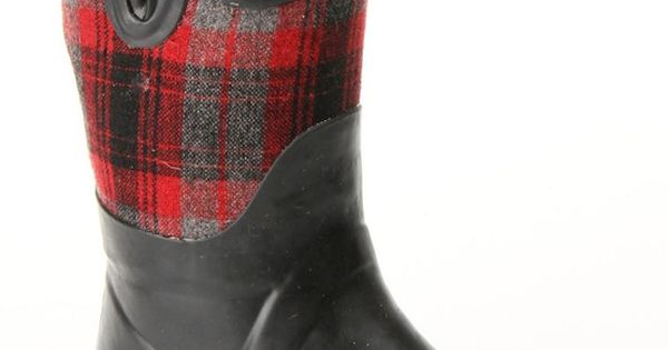Apple Bottom Sammi Kids' Rain Boot In Black And Red - Beyond