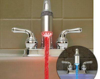 LED faucet light kidsbathroom