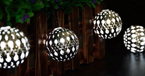 Ledertek Solar Powered Moroccan Globe String Lights 10 Led