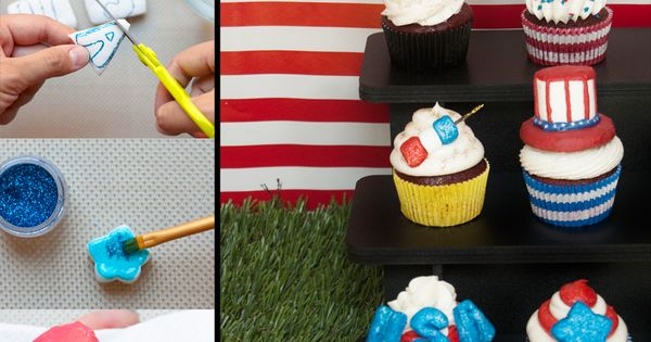DIY Marshmallow Cupcake Toppers By TheMarshmallowStudio  Cupcakes