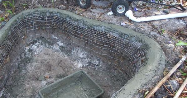 Cement ponds concrete pond diy tadege pond and water for Diy concrete pond