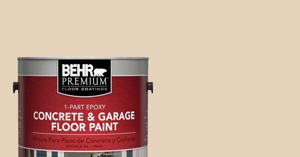 Behr Premium 1 Gal S280 2 Beach Grass 1 Part Epoxy Satin Interior Exterior Concrete And Garage Floor Paint 90001 Garage Floor Paint Painted Floors Exterior Paint