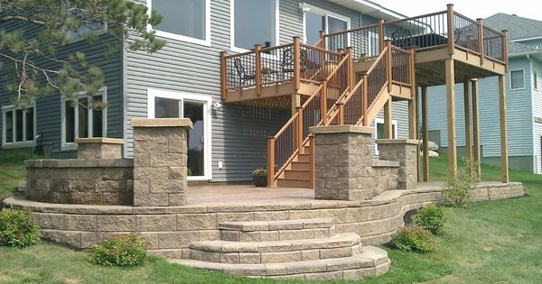 2 Tier Deck With Patio Under Deck Ideas Pinterest