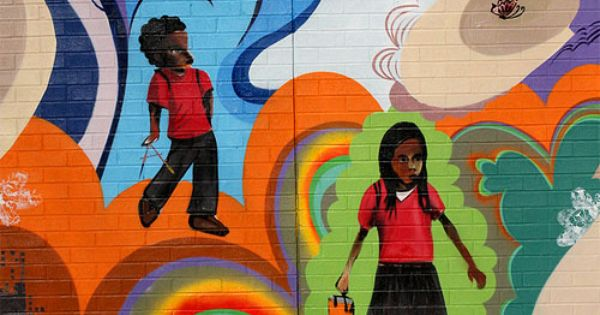 Malcolm x elementary school mural mural and school wall for Malcolm x mural