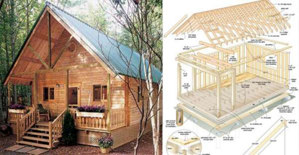 Build This Amazing Cozy Tiny Home For Under 6000 World Inside Pictures Diy Cabin Log Cabin Plans Cozy Cabin