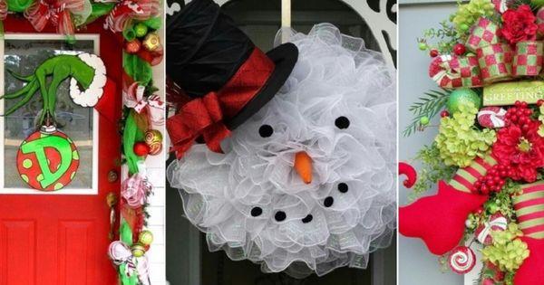 Le top 18 des plus belles d corations de no l pour portes - Les plus belle decoration de noel ...