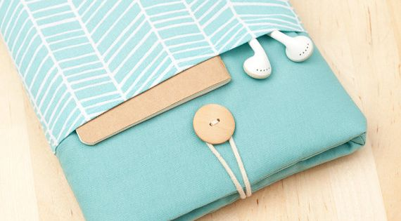 ipad mini sleeve / ipad mini case / ipad mini cover - sea lines with pockets - on Etsy, $24.50