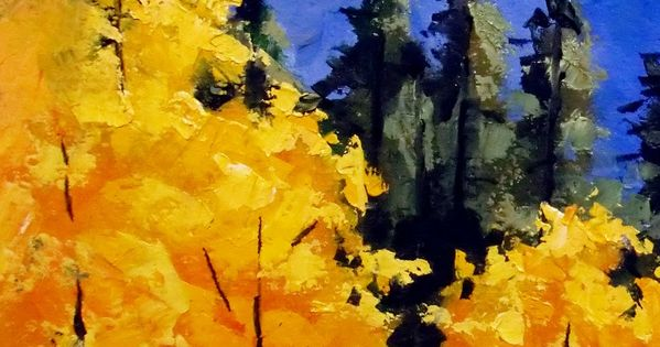 Easy fall acrylic paintings daily painters abstract for Fall paintings easy