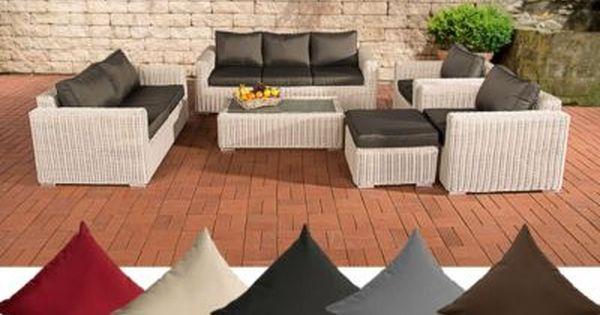 Elegant Poly Rattan Loungem bel Set MADEIRA XL er Sofa er Sofa x Sessel Hocker Tisch x cm Jetzt bestellen unter https moebel ladendir u