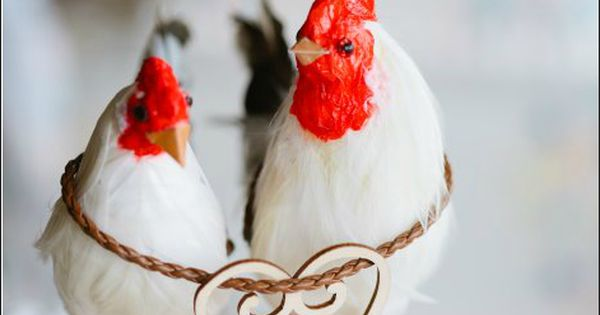 """""""Your my Favorite Chic"""" Chicken and Rooster Wedding Cake ..."""
