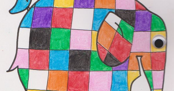 Elmer the Patchwork Elephant coloring
