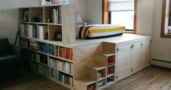 Une estrade multifonctionnelle pour l 39 espace lit chambre pinterest - Estrade pour cuisine ...