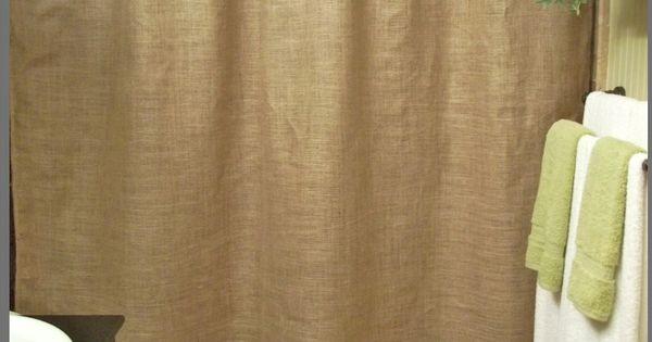 rideau de douche ou pas en toile de jute chambre pinterest rideaux de douche toile de. Black Bedroom Furniture Sets. Home Design Ideas