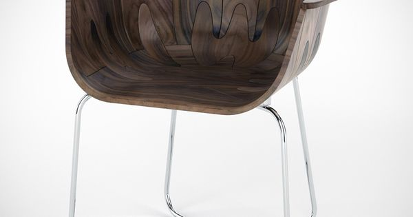 modern chair 1 A Stylish Chair Design: Walnut Shell Seat by Tony