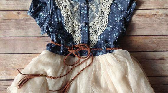 Navy Ivory Toddler Girls Tutu Dress, Vintage Toddler dress. .. just needs