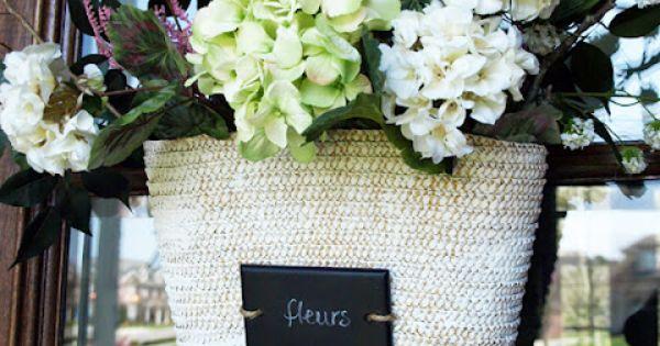 Front Door Flower Basket how to