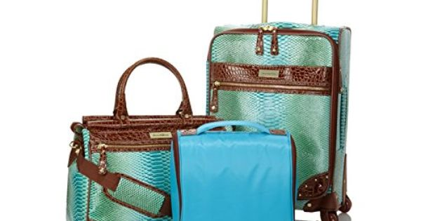 Samantha Brown Luggage Qvc: Samantha Brown Embossed Ombre Spinner 3-piece Luggage Set