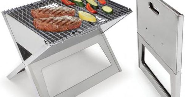 Stainless Steel Notebook Fold Flat Grill