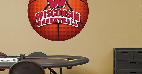 Wisconsin Badgers Basketball Logo Fathead Wall Decal Wisconsin Pinterest