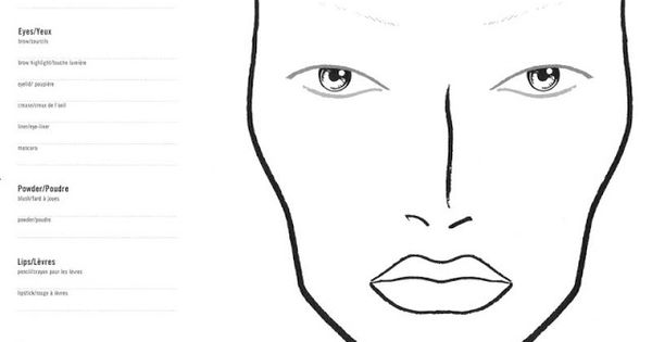 beautynewbie com  10 blank face chart templates  male face