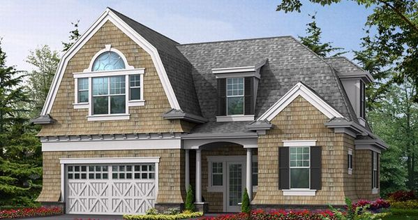 Dutch colonial carriage house plan homey places for Dutch colonial garage plans