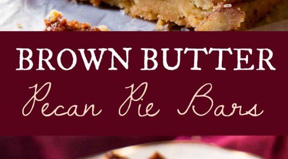 Brown Butter Pecan Pie Bars | Recipe