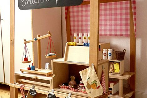 DIY Kids Grocery Store. cute idea for in a playroom