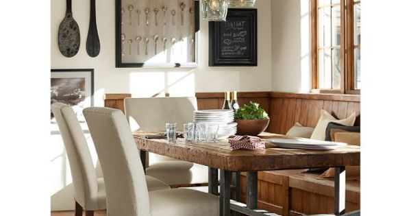 Griffin Fixed Dining Table Pottery Barn Table Chairs
