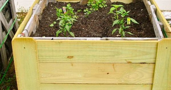 DIY:: Pallet Planter Boxes. Next to my raised garden beds in backyard?