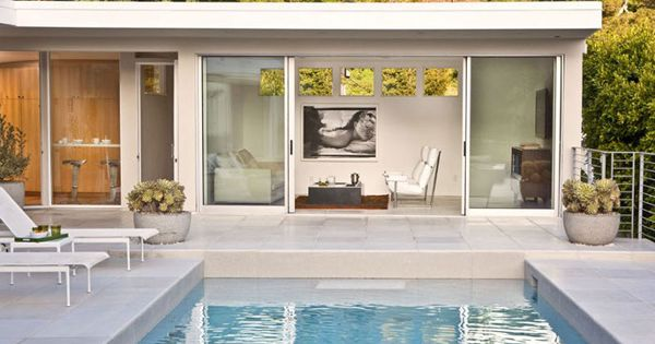 Pool house house pinterest quinchos piscinas y pabell n for Piscina y pabellon cubiertos