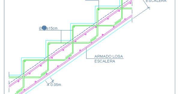 Formaci n de escalones de hormig n armado detalles for Planos de escaleras de hormigon